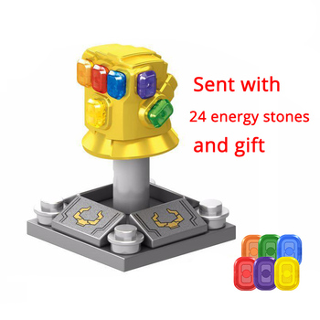 Legoinglys Thanos Energy Stones Gloves Building Blocks Avengers 3 New Infinity War Iron Man Block Marvel Figures Kids Toys Gift 1