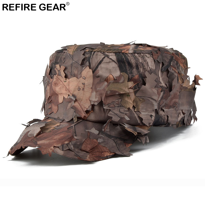 New Outdoor Conceal Camouflage Flat Cap Men Jungle Bionic Camo Hiking Camping Cap Quick Dry Paintball Fishing Snapback Hat