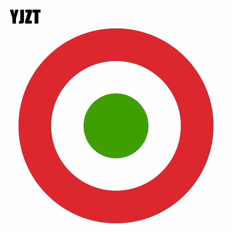 YJZT 15CM*15CM Car Window Italy Air Force Round Car Sticker Creative Decal 6-1619