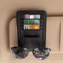 цена на Car Sun Visor Glasses Holder Sunshades Credit Card Package For Volvo Xc60 S60 s40 S80 V40 V60 v70 v50 850 c30 XC90 s90 v90 xc70