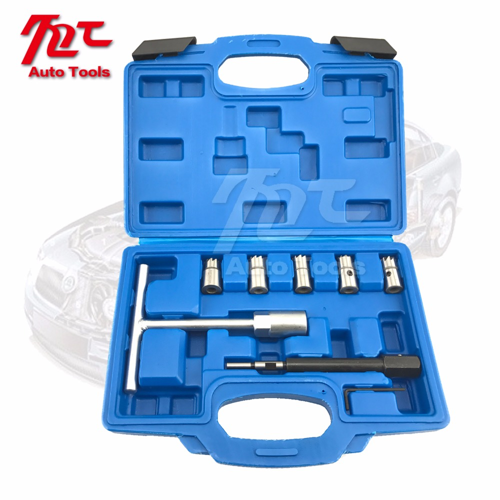 Diesel Injector Seat Cutter Set Cleaner Carbon Remover Car Garage Tool Kit