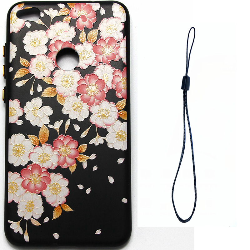 3D Relief flower silicone case huawei p8 lite 2017 honor 8 lite (7)