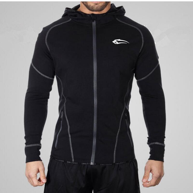 2016 new fitness men hoodies Muscle brothers apparel jumper zipper leisure jerseys lean Muscle man hooded