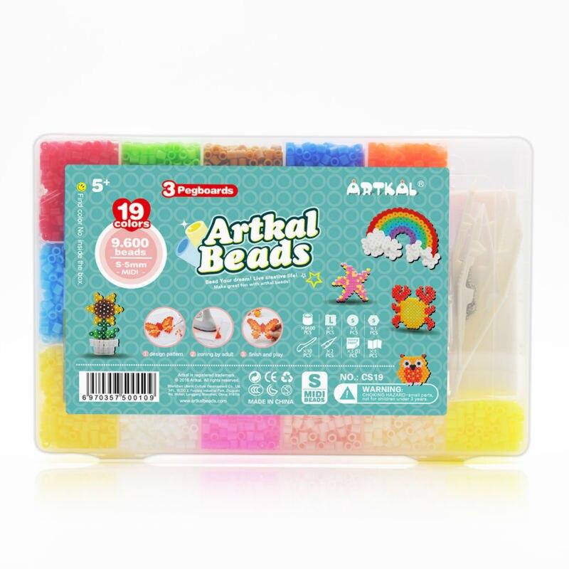 9,500 pièces perles Artkal 19 couleurs et 3 pegboards bricolage jouets éducatifs drôles Perler Hama perles CS19