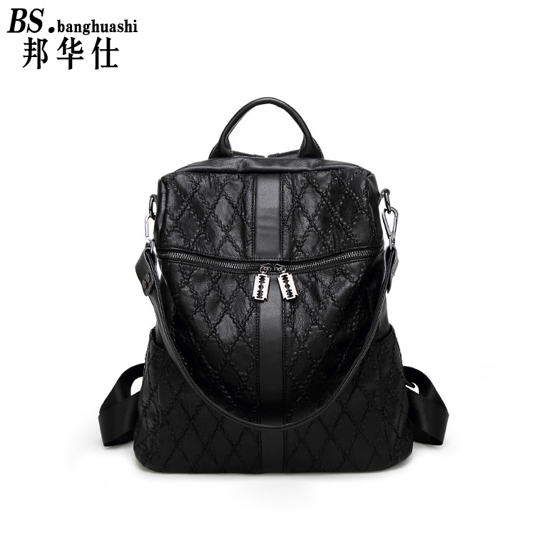 ФОТО New 2017 Fashion Leather Lady  Patchwork Natural Sheepskin Shoulder Bag Famous Brand Women's Bag Casual Hand Shoulder Bag