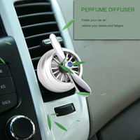 Round Shaped Car Air Freshener Vent Clip Car Decoration With 2 Perfume Tablet For Car Office