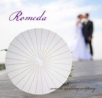 Hot Sell Free 20pcs Lot Free Shipping Party Wedding Bride White Paper Umbrella Parasol