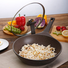 28 cm stone layer non-stick Fruit Frying Pan Colour Cast Aluminum Cookware Grill Pan general use for gas and induction cooker