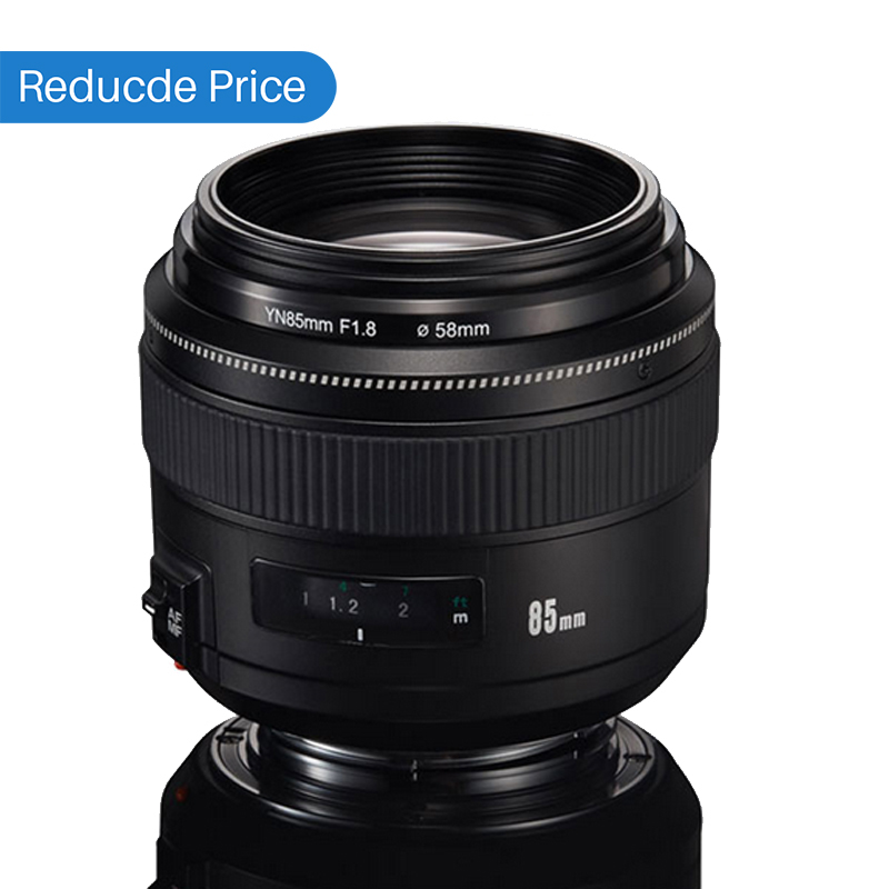 Ulanzi Yongnuo YN85mm F1.8 Standard Medium Telephoto Lens AF/MF for Canon EF Camera 7D 5D Mark III 80D 70D 760D Fixed Focus