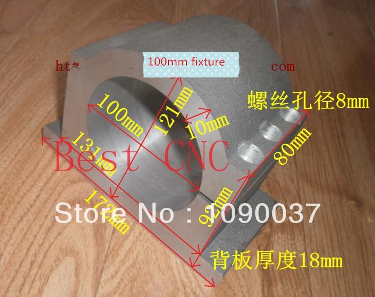 Dia 100mm orsó bilincs alumínium rögzítőelem tokmány tartó tartó tartja az ülés rögzítését DIY CNC router 3.0KW orsókészletek