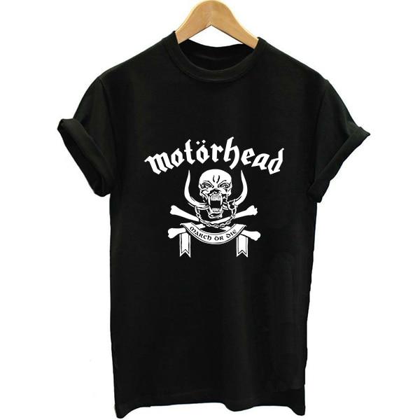 Unisex Loose Style Motorhead Alien Heavy Metal Summer Women Letter Print T-shirt Swag Vogue Female Printed Tshirt Motor Head