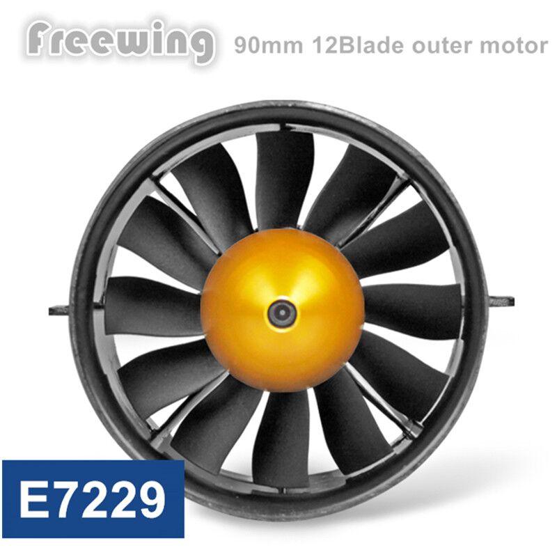 Freewing 90 MM metalowego EDF zestaw 12 ostrze wentylator kanałowy z 6 s zewnętrzna/wewnętrzna bezszczotkowy silnik do RC Model w Części i akcesoria od Zabawki i hobby na  Grupa 1