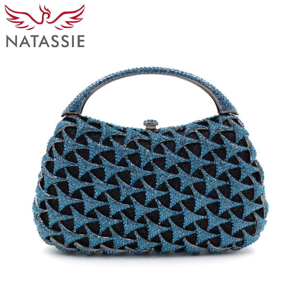 цена  NATASSIE Luxury Gemstone Evening Bag Women Wedding Purses Lady Dinner Party Handbag Free Shipping L1088  онлайн в 2017 году