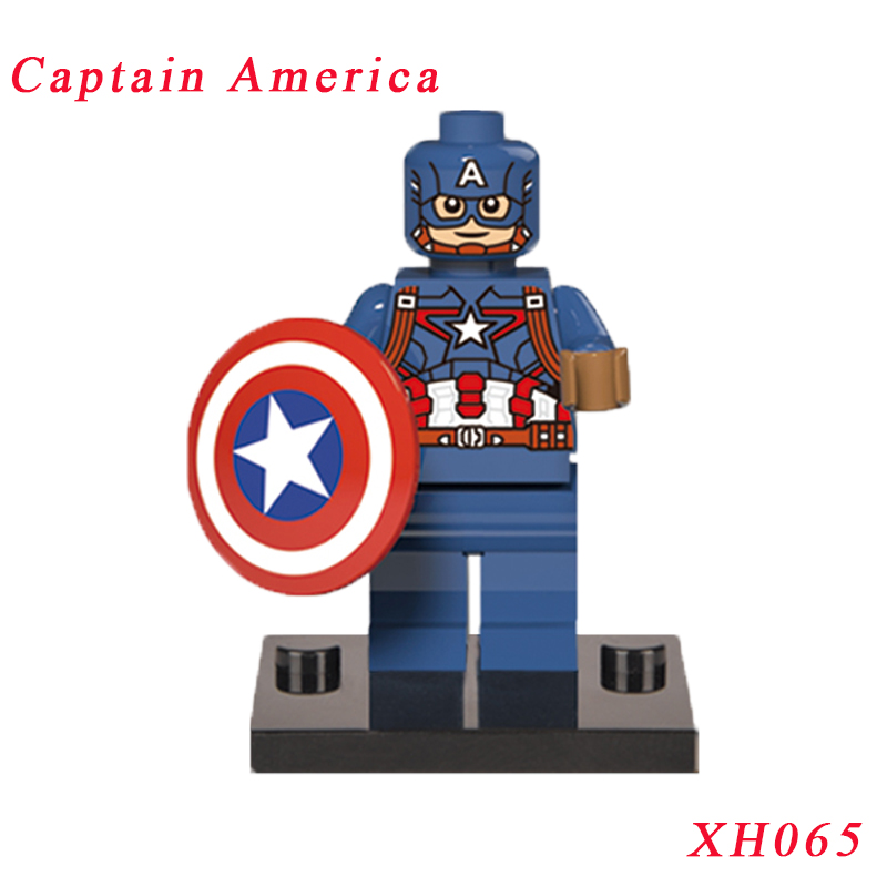 Captain America Super Heroes Red Skull Diy Bricks Single Sale XH065 Action Figure Building Blocks Toys For Children pogo red hood action figure super heroes building brick toys collection single sale classic educational toys for kids gifts
