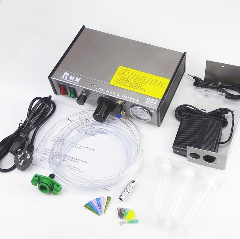 220V Pneumatic dispensing controller Auto glue dispenser solder paste liquid controller dropper fluid dispense doming machine 11 11 free shippinng 6 x stainless steel 0 63mm od 22ga glue liquid dispenser needles tips