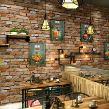 Vintage 3d brick wallpaper lifelike waterproof PVC thicken bar coffee restaurant industrial loft for walls grey