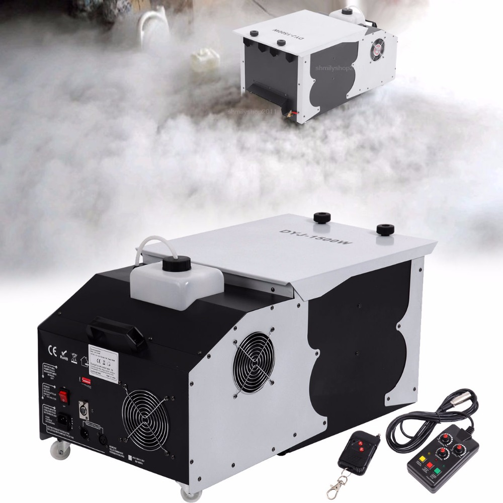 ship from US! 1500W Low Laying Smoke Fog Machine DMX Dry Ice Effect Stage Lighting Effect for Xmas Party DJ Disco Wedding недорого