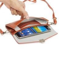 6.3 ''Teléfono de Lujo Bolsa de Crossbody Pequeñas Bolsas de la Bolsa de Cuero Universal de LA PU para Samsung Galaxy Note 7 5 4 3 2/S7 S6 S5 S4 J2 J3 J5 J7