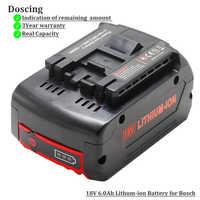 Para Bosch 18 V 6000 mAh herramientas eléctricas batería baterías recargables paquete inalámbrico para Bosch Drill BAT609 BAT618 3601H61S10 JSH180