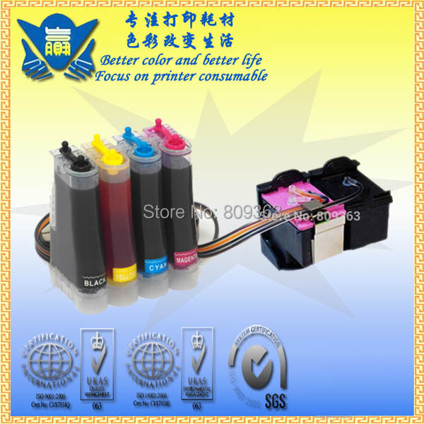 Continuous Ink Supply System CISS for Hp132 136 for Officejet 6213,Deskjet 5443,D4163,Photosmart 2573,C3183 ect.free shipping