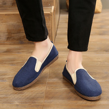 2019 Fashion Men Canvas Shoes Breathable Casual Shoes Men Shoes Loafers Comfortable Lazy Shoes Flats Footwear Chaussure Homme new canvas shoes man loafers flats espadrilles slip on shoes men casual breathable soft comfortable lazy shoes chaussure homme
