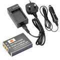 DSTE NP-95 NP95 Battery + Travel and Car Charger For Fuji FinePix F30 X-S1 X70 X100 X100S RICOH GXR GR A12 S10 P10