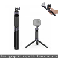 For PGYTECH Osmo hand pocket tripod extend pole phone holder for Gopro Hero 6 5 4/ DJI Osmo Action Camera accessory