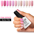 10ml Pink Color Series Decorations For Nails Gel Lak Nail Kits With Lamp Glitter Glue Gorgeous UV Gel Polish Camouflage Nail