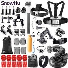 SnowHu Gopro accessories set go pro kit mount SJ4000 hero 5S 5 4 3+  SJCAM M10 SJ5000 camera case xiaoyi chest tripod GS54 автомобильный набор sjcam car charge set для sj5000 sj4000 m10 черный