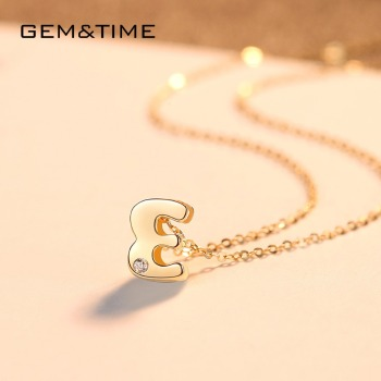 Initials A-Z Pendant Necklace 14K Gold 5