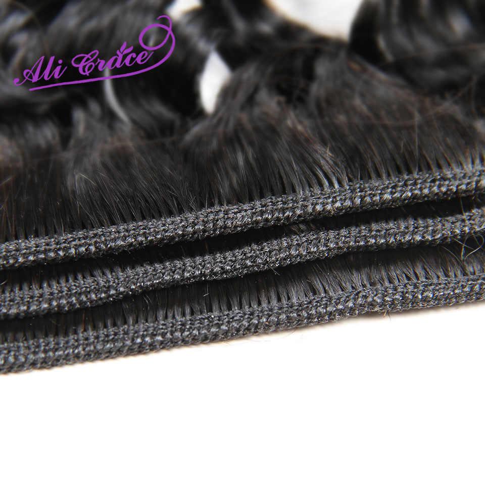 Ali Grace Haar Peruaanse Diepe Golf Haar 1 Bundel 100% Remy Human Hair Weave Natuurlijke Kleur 12-28 Inch
