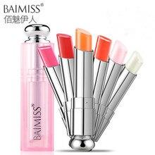 Baimiss увлажняющий сплошной цвет бальзам для губ помада 3.5 г шесть дополнительных цвета для губ развести губ прочного покровительство помада(China (Mainland))
