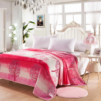 Hongbo 1 Stücke Floral Korallenrote Vliesdecke Für Bed Werfen Decken Comfort Soft Und Exquisite Gefühl Maschine Waschbar