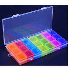 21 Grids diamond painting Removable kits Nail Art Jewelry Case Box Plastic Storage Case Rhinestones Container Organizer Box