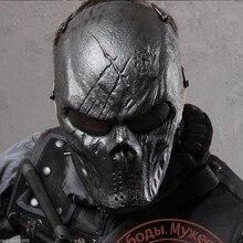 Exterior máscaras tácticos dios negro motocicleta caza de Halloween Wargame militar Paintball Airsoft Skull protección mascarilla facial