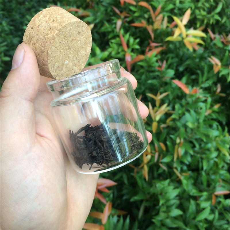 90ml Glass Saffron Storage Bottle with Corks Food Grade Jars For Saffron Transparent Clear Eco-Friendly Bottles4
