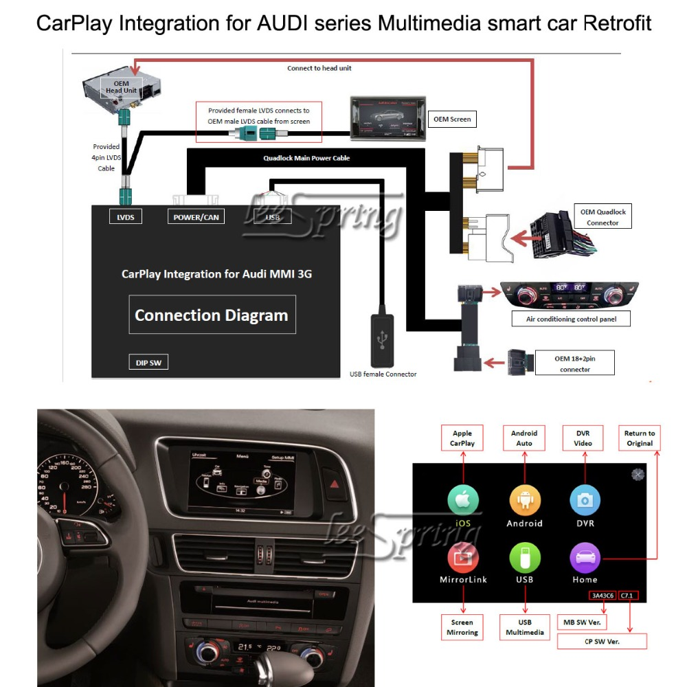 All kinds of cheap motor audi a5 carplay in All A