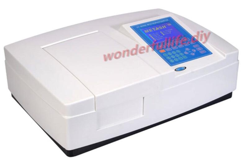 Large LCD display UV 8000 Double Beam Ultraviolet/Visible Spectrophotometer Wavelength Range 190 1100nm Bandwidth 1.8nm