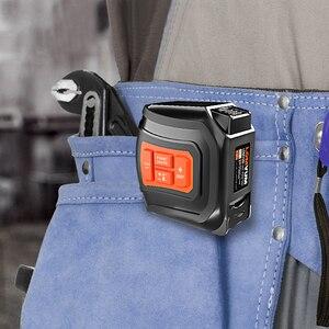 Image 5 - LOMVUM Medidor de distancia láser LTM, cinta láser recargable por USB, telémetro láser cada en tiempo Real de 40/60m, cinta LCD Digital de 5m