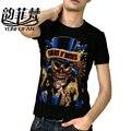 2016 Мужчины Футболки Известной Рок-Группы Guns N 'Roses отпечатано 100% 180 г Хлопок Топ Ти camisetas Марка Качество индивидуальные