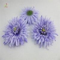 100 Unid alta calidad artificial cabeza flores de seda para la decoración casera del banquete de boda guirnalda scrapbooking falso luz púrpura flores