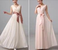 52003 champagne szyfonu sexy sweetheart suknia nowa partia druhna długi plus rozmiar maxi 2015 new arrival v neck
