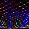 144 светодиодов Чистый свет Шнура Сид 2*2 М Сетки Сказочных Огней Рождество дерево Свадьбы Декор 5 Цветов с хвостом С Праздником VR