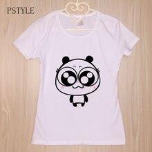 Harajuku Kawaii Tshirt For Women Summer Short Sleeve Cartoon Print Funny T shirts Cute Panda Print Tee Shirts For Lady Girls girls cartoon print tee