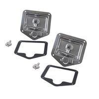 Folding T Handle Lock Stainless Steel Flush Mount Tool Box Lock Trailer Truck Paddle Latch