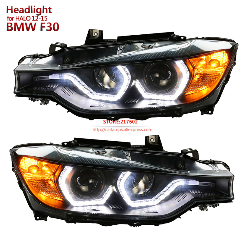 for BMW 3-Series F30 Bi-xenon Projector Lens Headlights Assembly 2013-2016 F35 316i 320i 328 335 front car lamps полуось на bmw 316i в беларуси