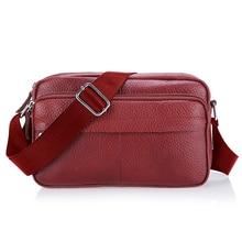 Girl Fashion Soft Genuine Leather Bag Ladies Women Messenger Bags Small Crossbody Shoulder Bag Female Designer Brand
