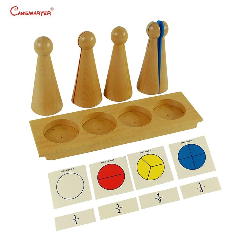 Enfants Fraction Montessori maths jouets en bois matériel pratique apprendre jouet Fraction quilles jeux préscolaire enseignement sida MA013-35