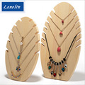 Wood necklace Display Holder For Store Wood Jewelry Display Stand Showcase necklace Display Stand Storage  two sizes can choose