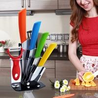 Kitchen Knives Set 6pcs/Set Fruit Meat Ceramic Knife Set 3 4 5 6 Inch + Peeler + Knife Holder Top Quality